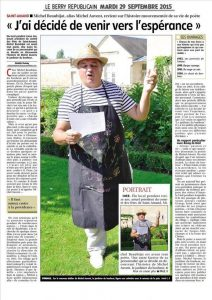 Le jardinier du bonheur Poete Michel Auvent